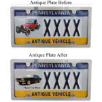Antique Plate Sticker