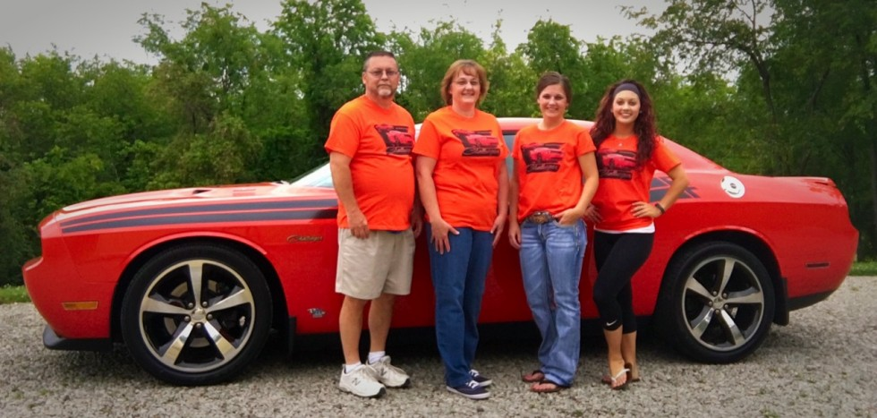 Don with family wearing custom Challenger T-Shirts